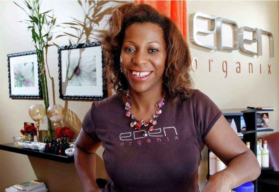 Owner Valerie Robinson of Eden Organix, a spa in Highland Park, N.J., is promoting Small Business Saturday on Facebook, Twitter and on her own website. Photo: Mel Evans, Associated Press / AP