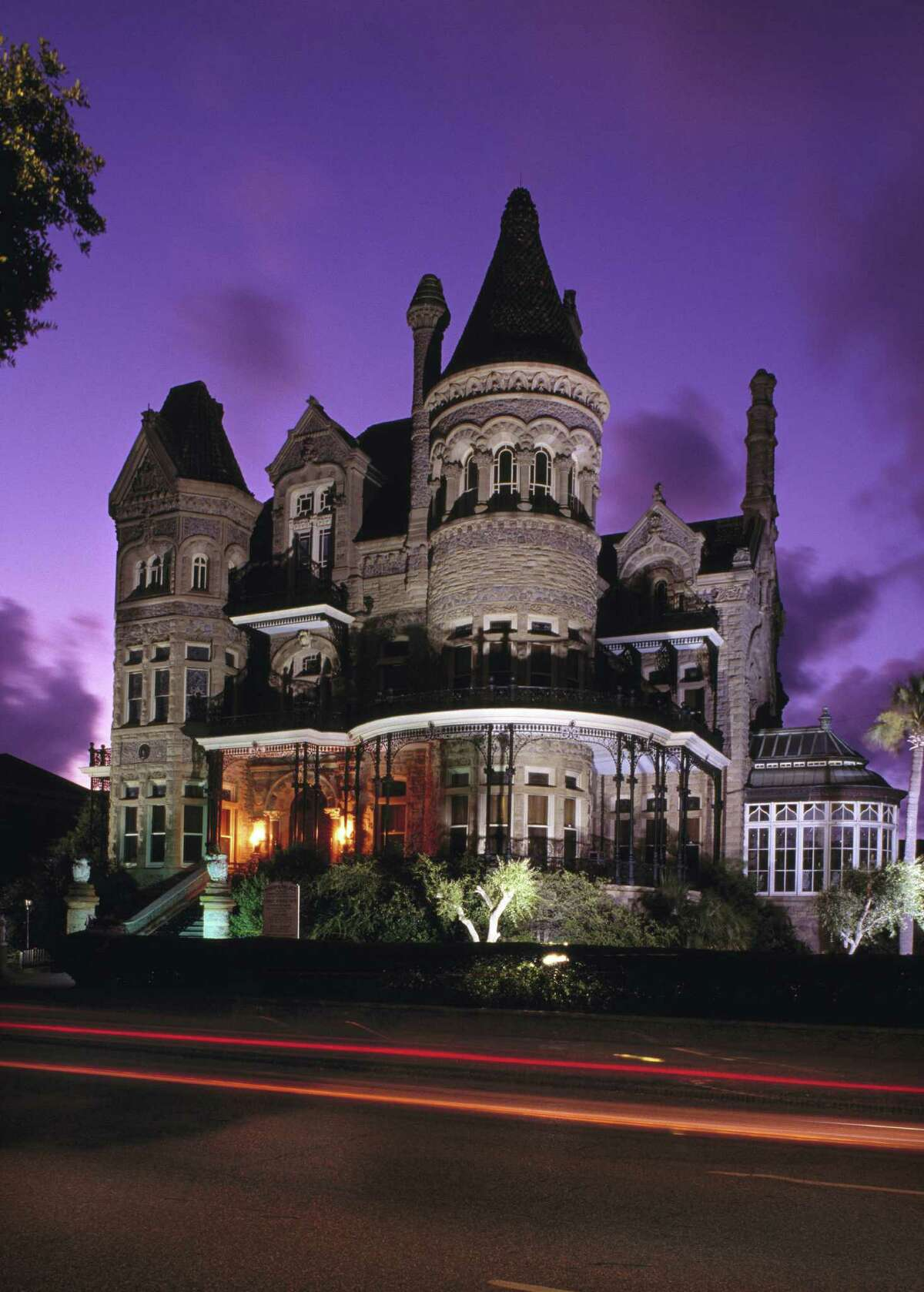 The Bishop's Palace in Galveston, built in the 19th century, is known as one of the finest examples of Victorian opulence in America.