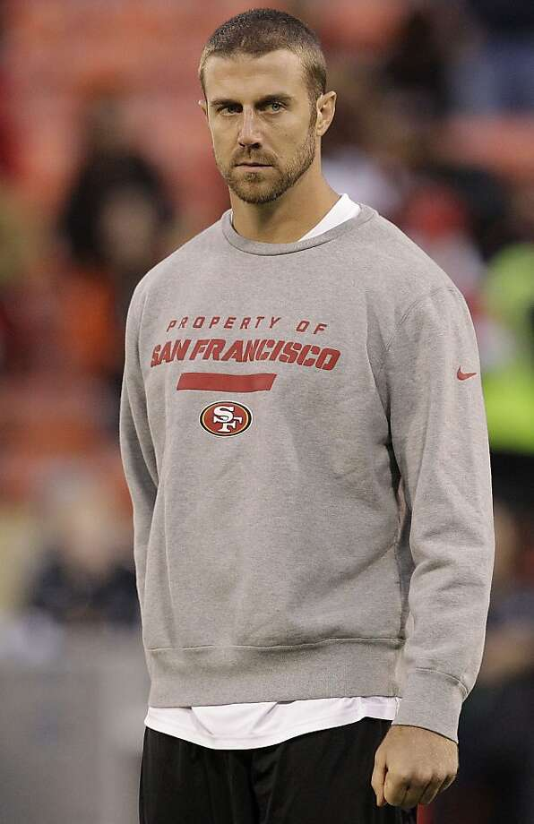 San Francisco 49ers quarterback Alex Smith (11) is shown before an NFL football game against the Chicago Bears in San Francisco, Monday, Nov. 19, 2012. (AP Photo/Tony Avelar) Photo: Tony Avelar, Associated Press
