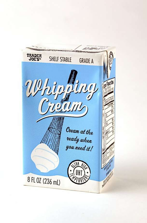 Trader Joe's Shelf Stable Whipping Cream  as seen in San Francisco, California on Wednesday, October 31, 2012. Photo: Craig Lee, Special To The Chronicle