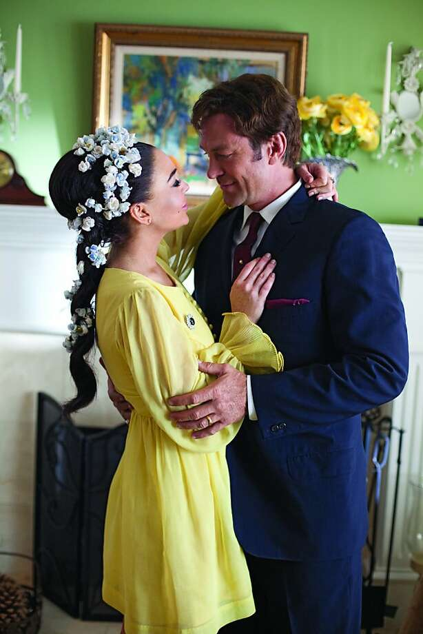 Lindsay Lohan and Grant Bowler play Elizabeth Taylor and Richard Burton, who married and divorced twice. Photo: Jack Zeman, Lifetime