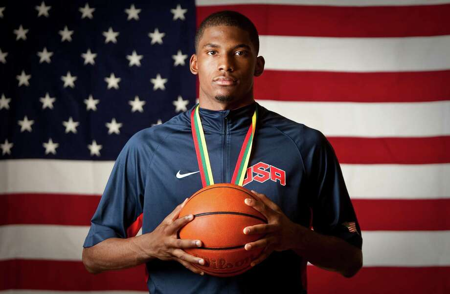 Justise Winslow of Houston, won a gold medal in the FIBA under 17 World Championships. Photographed, Saturday, July 14, 2012, in Houston. ( Nick de la Torre / Houston Chronicle ) Photo: Nick De La Torre, Staff / © 2012  Houston Chronicle