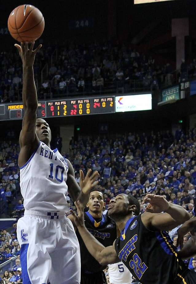 Freshman Archie Goodwin, who scored 28 points, helps No. 8 Kentucky rise past Morehead State. Photo: James Crisp, Associated Press