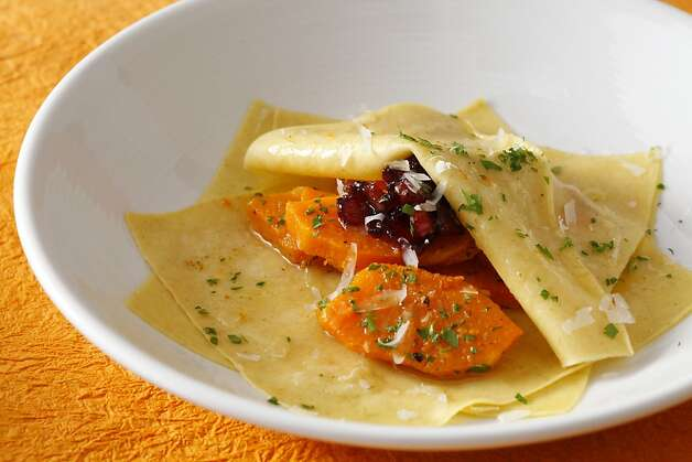 Butternut Squash & Candied Bacon on Fresh Pasta (Canal House Cooks Everyday) as seen in San Francisco, California, on Tuesday, November 20, 2012. Food styled by Sarah Fritsche. Photo: Craig Lee, Special To The Chronicle