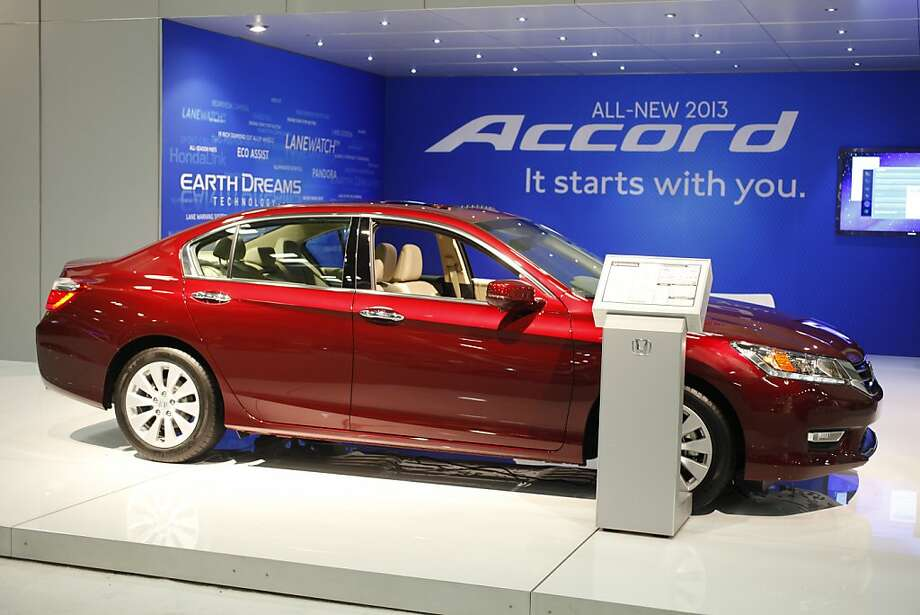 The 2013 Honda Accord at the 55th Annual International Auto Show at the Moscone Center in San Francisco, California, on Wednesday, November 21, 2012.  The show is open to the public Thursday November 22 through Monday, November 26. Photo: Craig Lee, Special To The Chronicle