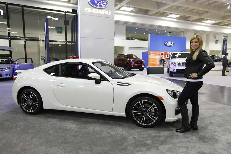 A 2013 Subaru BRZ at the 55th Annual International Auto Show at the Moscone Center in San Francisco,