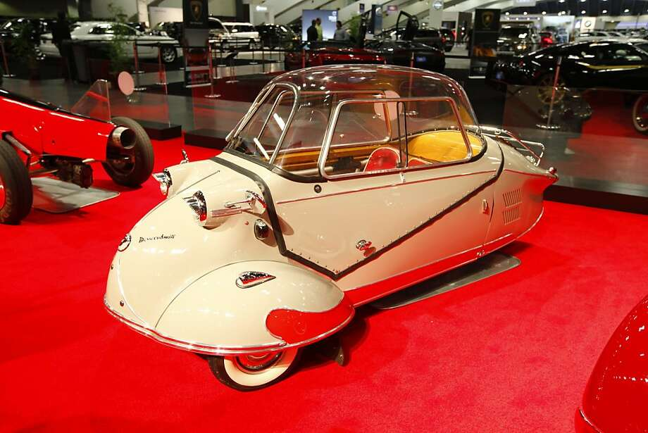 A 1954 Messerschmitt owned by the Academy of Art University at the 55th Annual International Auto Show at the Moscone Center in San Francisco, California, on Wednesday, November 21, 2012. The show is open to the public Thursday, November 22 through Monday, November 26. Photo: Craig Lee, Special To The Chronicle