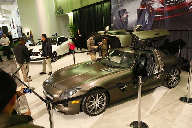 A Mercedes with gullwing doors at the 55th Annual International Auto Show at the Moscone Center in San Francisco, California, on Wednesday, November 21, 2012. The show is open to the public Thursday, November 22 through Monday, November 26. Photo: Craig Lee, Special To The Chronicle