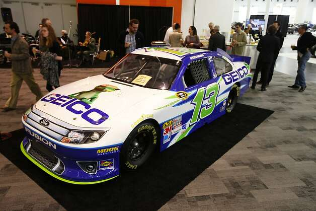 A Geico Ford Fusion racing car at the 55th Annual International Auto Show at the Moscone Center in San Francisco, California, on Wednesday, November 21, 2012. The show is open to the public Thursday, November 22 through Monday, November 26. Photo: Craig Lee, Special To The Chronicle