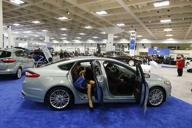 A Ford Fusion Hybrid  at the 55th Annual International Auto Show at the Moscone Center in San Francisco, California, on Wednesday, November 21, 2012. Photo: Craig Lee, Special To The Chronicle