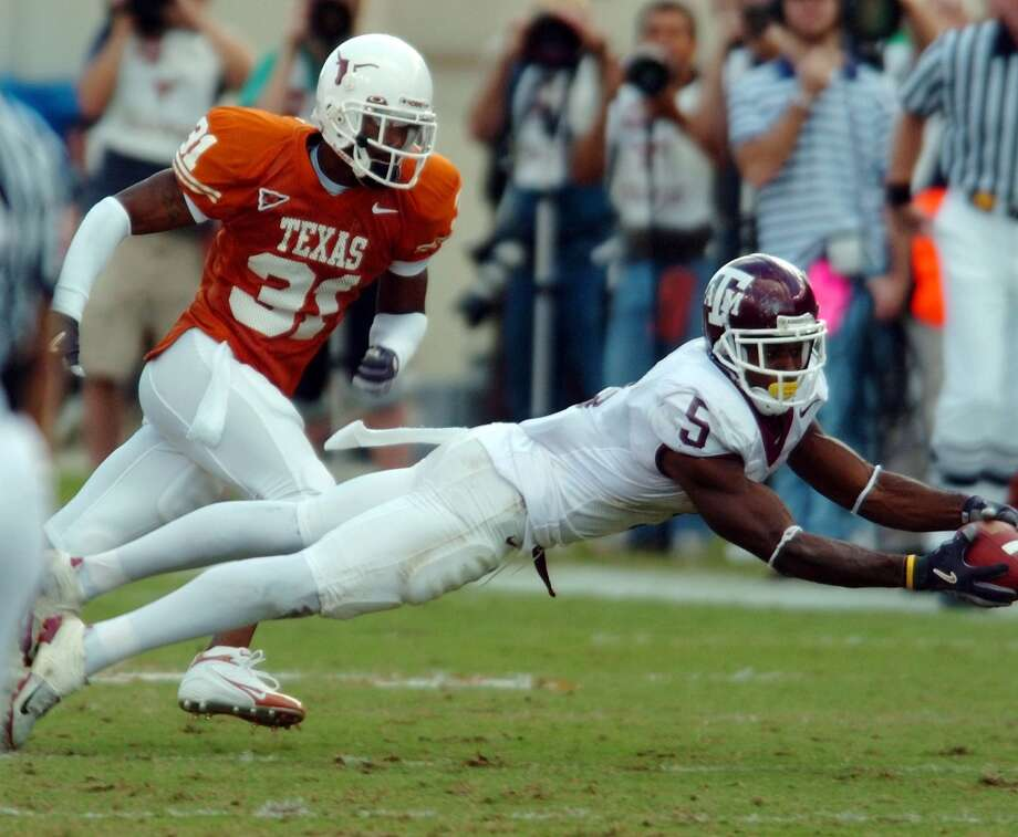 2004Texas 26, Texas A&M 13Receiver Terrence Murphy wasn't able to grab this pass nor were the Aggies able to pick up a win. (Bahram Mark Sobhani / San Antonio Express-News)