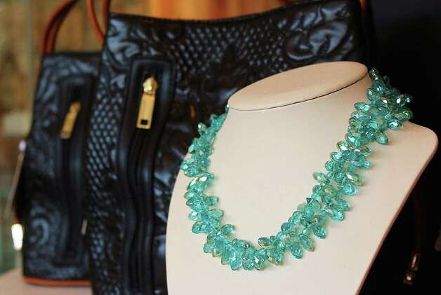 A necklace and pair of bags at Beadz Boutique. Photo: Contributed