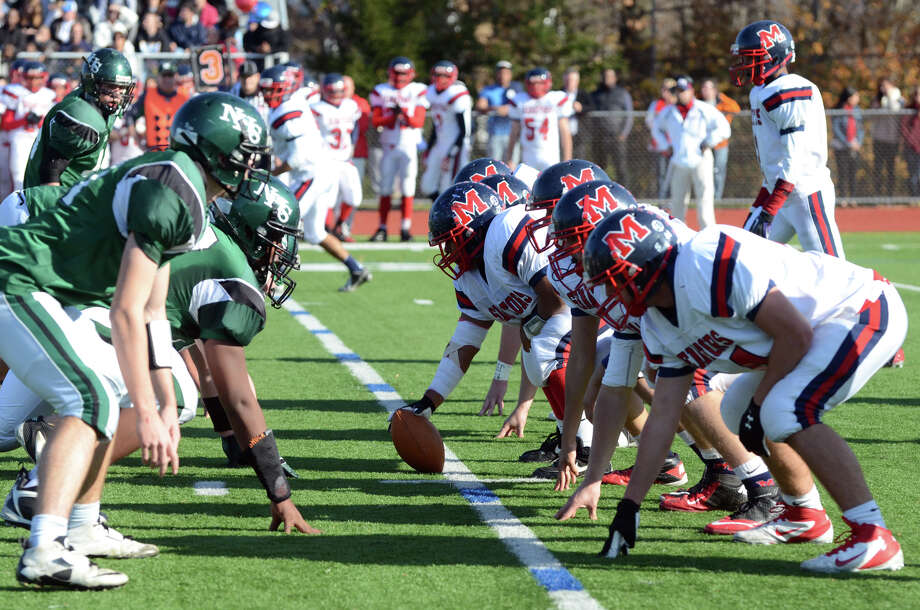 Norwalk hosts Brien McMahon High School during the Thanksgiving Day football game on Thursday, Nov. 22, 2012. Photo: Amy Mortensen / Connecticut Post Freelance