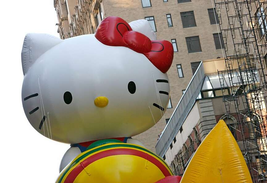 The Hello Kitty balloon is seen during the 86th Annual Macy's Thanksgiving Day Parade on November 22
