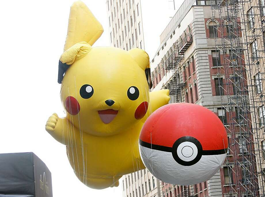 The Pikachu Pokemon balloons are seen during the 86th Annual Macy's Thanksgiving Day Parade on November 22, 2012 in New York City. Photo: Mike Lawrie, Getty Images
