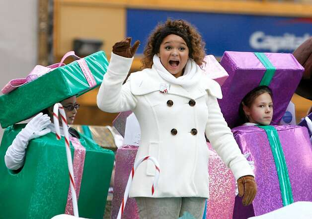 Singer/actress Rachel Crow attends the 86th Annual Macy's Thanksgiving Day Parade. Photo: Mike Lawrie, Getty Images