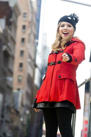 Jennette McCurdy rides a float in the Macy's Thanksgiving Day Parade in New York. Photo: Charles Sykes, Associated Press