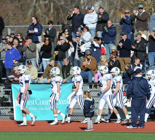 FCIAC championship football game between Staples High School and Greenwich High School at Greenwich, Thursday afternoon, Nov. 22, 2012. Staples defeated Greenwich 48-30 to win the championship. Photo: Bob Luckey / Greenwich Time