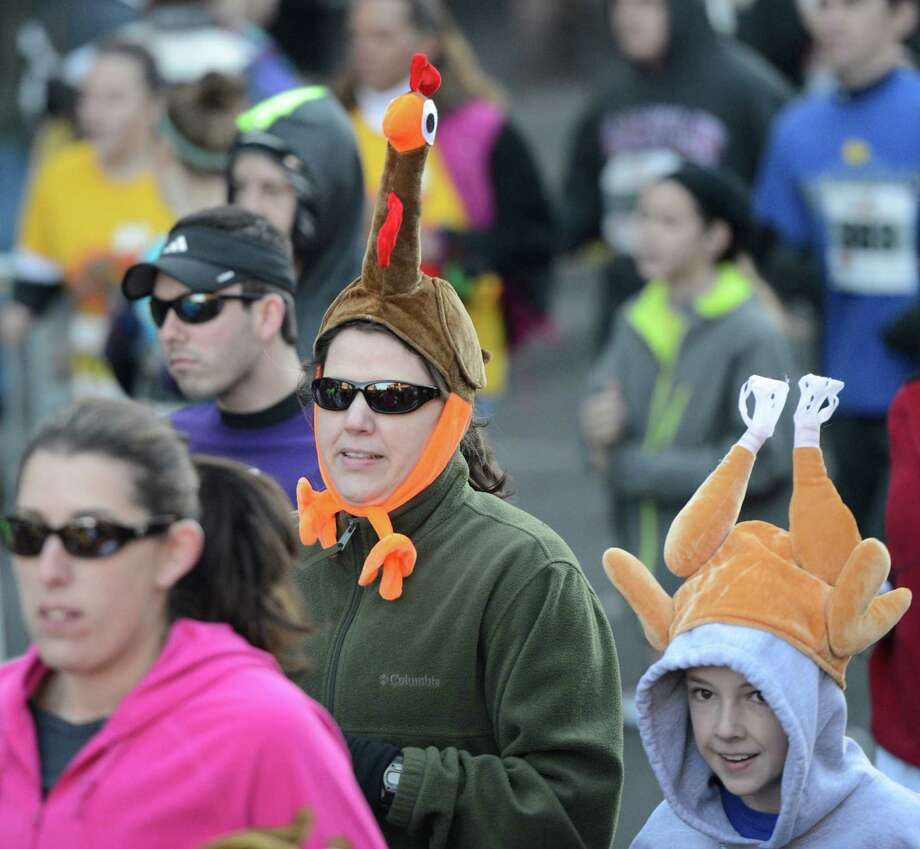 The start of the 5K race in the 65th running of the Troy Turkey Trot in Troy, N.Y. Nov 22, 2012.     (Skip Dickstein/Times Union) Photo: Skip Dickstein / 00020181A
