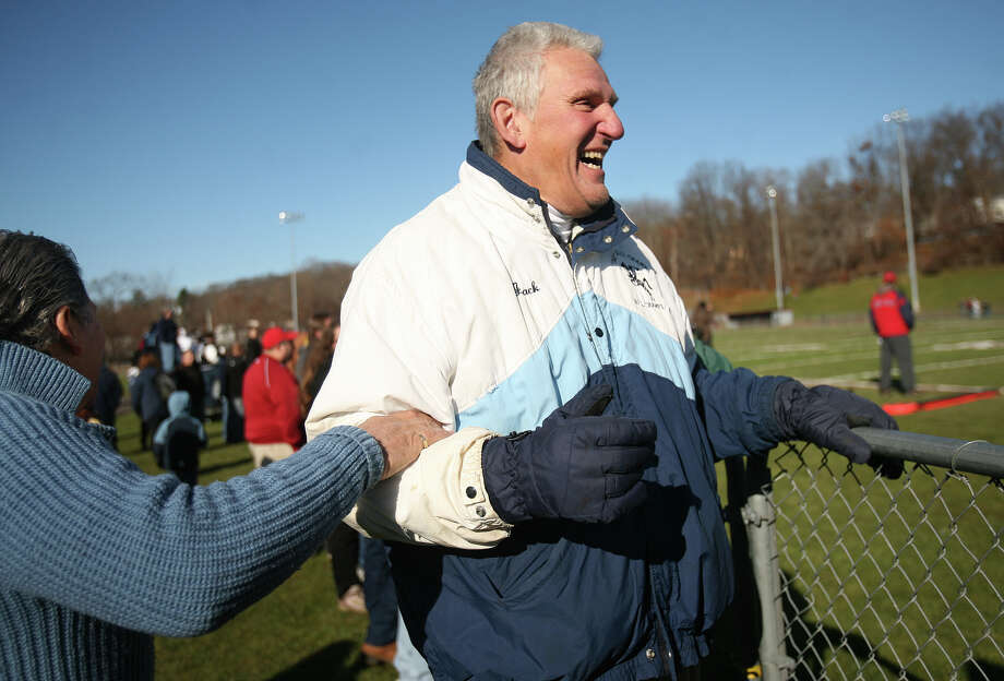 Former Ansonia football coach Jack Hunt watches the 2011 Thanksgiving Day football game at Naugatuck High School. Hunt coached Ansonia to seven state championships, including the 2002 and 2003 teams. Photo: Brian A. Pounds / Connecticut Post