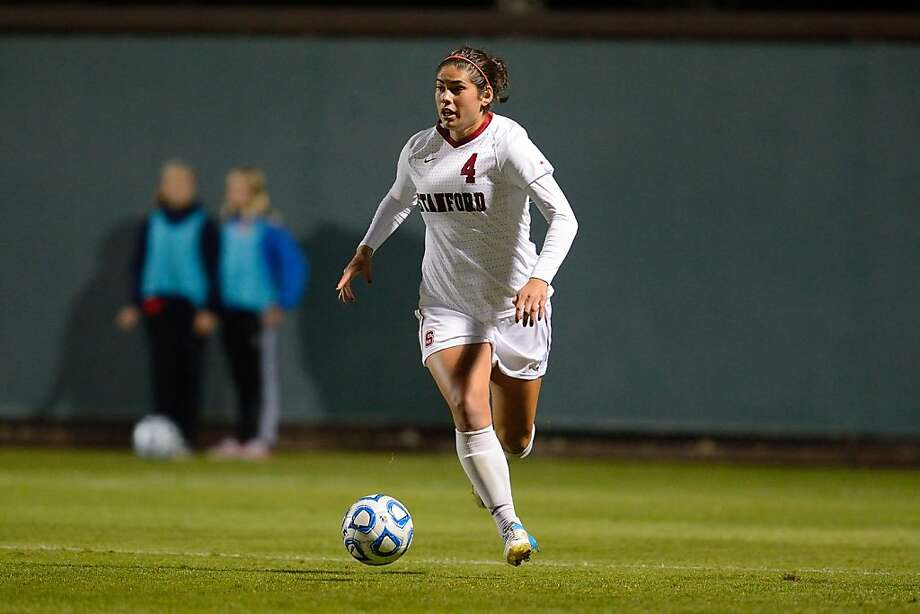 Alina Garciamendez has started a school-record 100 matches for Stanford. Photo: Richard C. Ersted, Stanfordphoto.com
