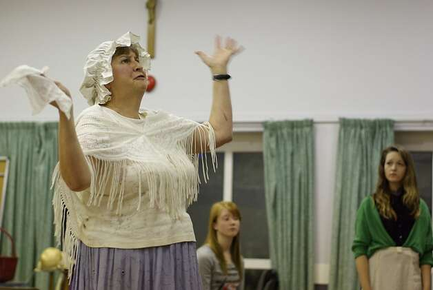"The Ruislip Operatic Society in London, in rehearsals, above, brings the world premiere of ""Pride and Prejudice: The Musical"" to the stage on Tuesday. Photo: Ruislip Operatic Society"