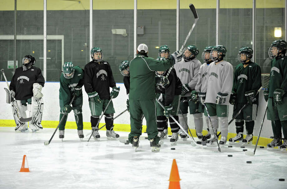 The Shenendehowa hockey team practices at the  Clifton Park Arena Wednesday, Nov. 21, 2012 in Clifton Park, N.Y.  (Lori Van Buren / Times Union) Photo: Lori Van Buren