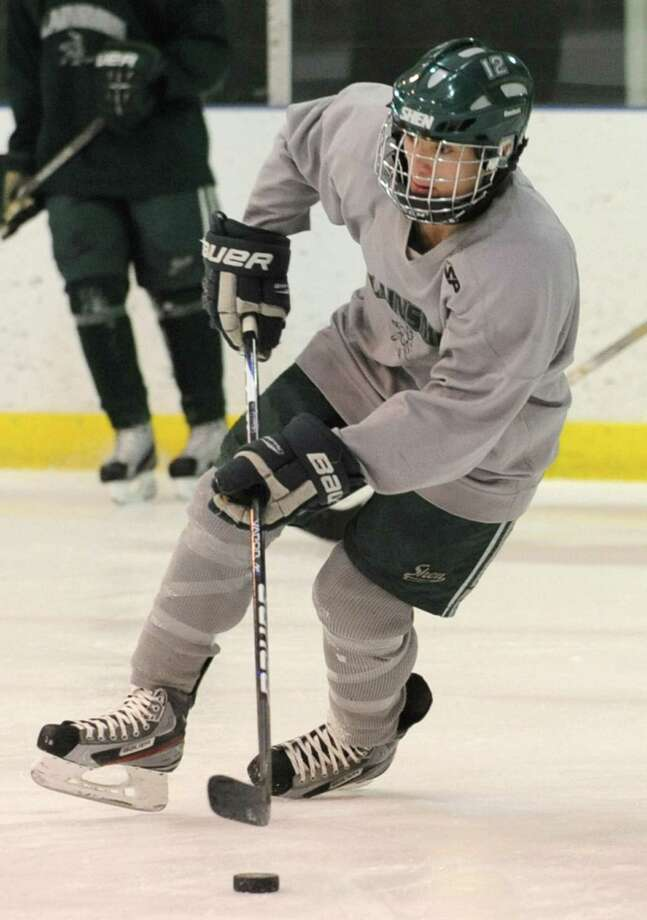 Shenendehowa hockey player Kevin Miles practices with the team at the Clifton Park Arena Wednesday, Nov. 21, 2012 in Clifton Park, N.Y.  (Lori Van Buren / Times Union) Photo: Lori Van Buren