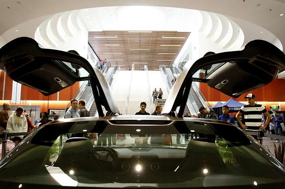 The gull-wing Mercedes SLS AMG on display at opening day at the 55th San Francisco International Auto Show in San Francisco, Calif., Thursday, November 22, 2012. Photo: Sarah Rice, Special To The Chronicle