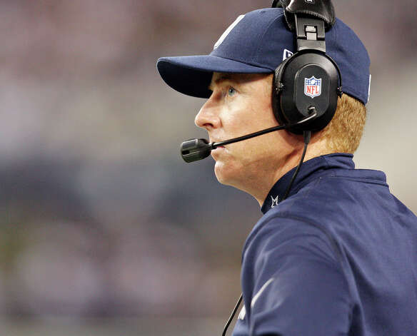Dallas Cowboys' head coach Jason Garrett on the sidelines during second half action against the Washington Redskins Thursday Nov. 22, 2012 at Cowboys Stadium in Arlington, Tx.  The Redskins won 38-31. Photo: Edward A. Ornelas, Express-News / © 2012 San Antonio Express-News