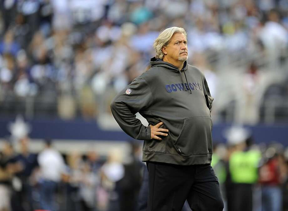 Dallas Cowboys defensive coordinator Rob Ryan before an NFL football game against the Washington Redskins Thursday, Nov. 22, 2012, in Arlington, Texas. The Redskins won 38-31. (AP Photo/Matt Strasen) Photo: Matt Strasen, Associated Press