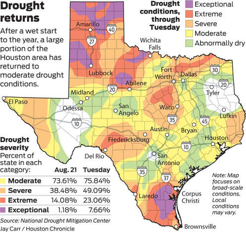 Drought returns Photo: Houston Chronicle Graphic