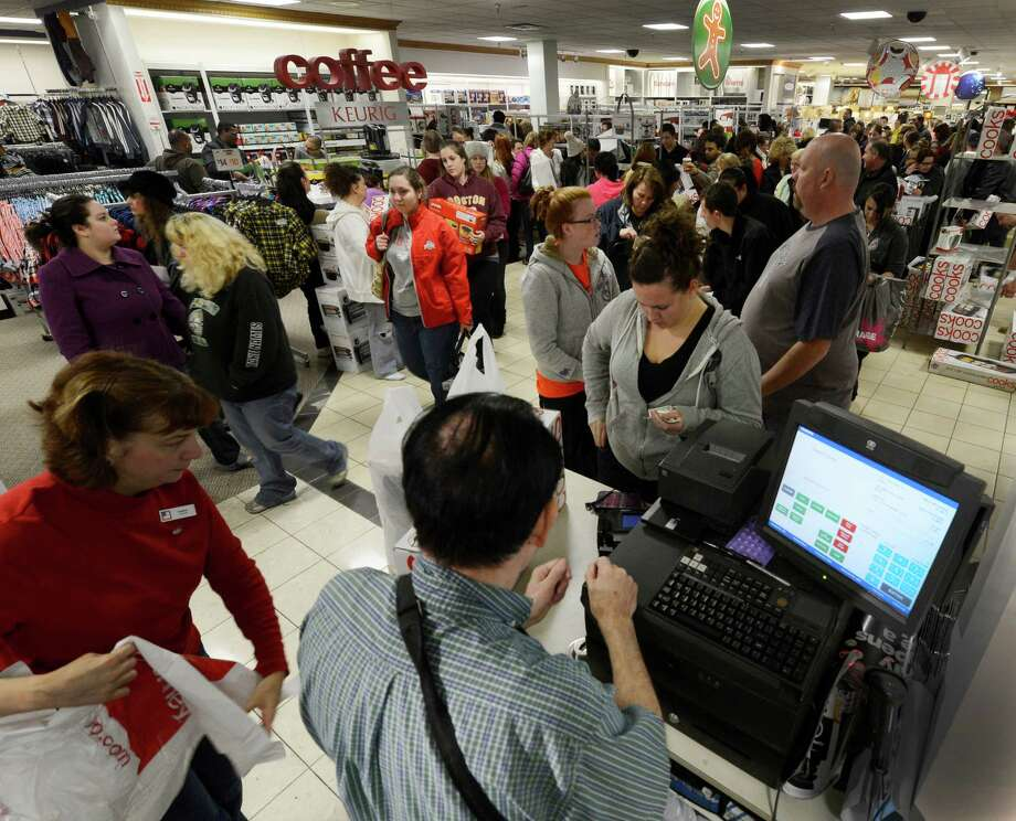 Shoppers line up to purchase their gift items at J. C. Penney at Crossgates Mall in Guilderland, N.Y. on Black Friday Nov 23, 2012.      (Skip Dickstein/Times Union) Photo: Skip Dickstein, Albany Times Union / 00020194A