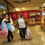 Casey Siconolfi, of Fairfield, and her aunt, Joann Chiodo, of Stratford, shop at the Westfield Connecticut Post Mall in Milford, Conn. on Friday, November 23, 2012. They started shopping at 2 am.