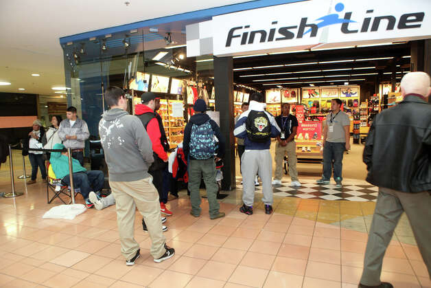 Shoppers wait at the Finish Line store for a sneaker release at the Westfield Connecticut Post Mall in Milford, Conn. on Friday, November 23, 2012. Photo: BK Angeletti, B.K. Angeletti / Connecticut Post freelance B.K. Angeletti
