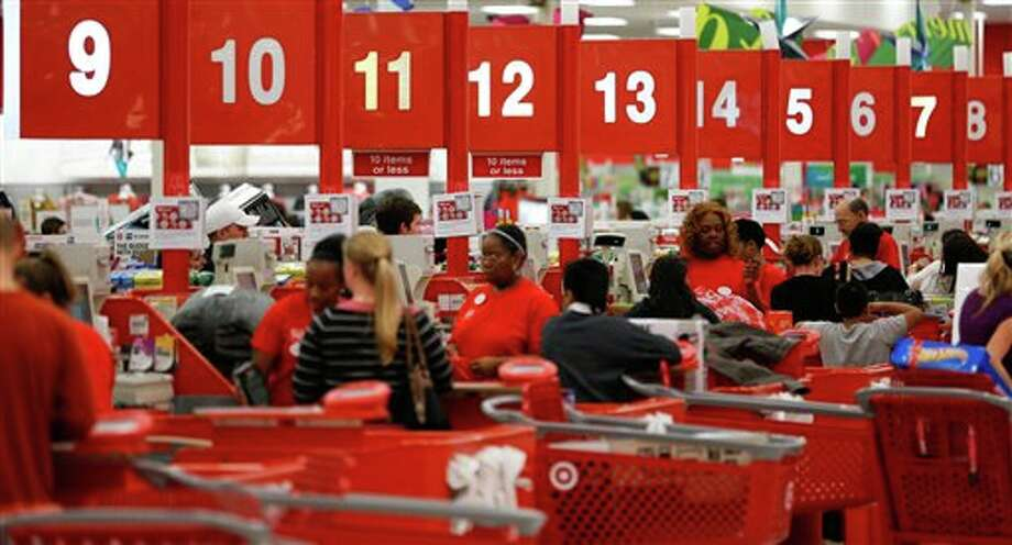 Shoppers take advantage of Black Friday specials at the Super Target on Skillman Street in Dallas on Thursday Nov. 22, 2012. Photo: Stan Olszewski, AP / Dallas Morning News