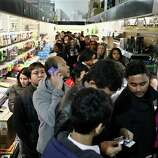 Customers wait in line in the computer department to shop for Black Friday discounts at a Best Buy store, Friday Nov 23, 2012, in Northeast Philadelphia.
