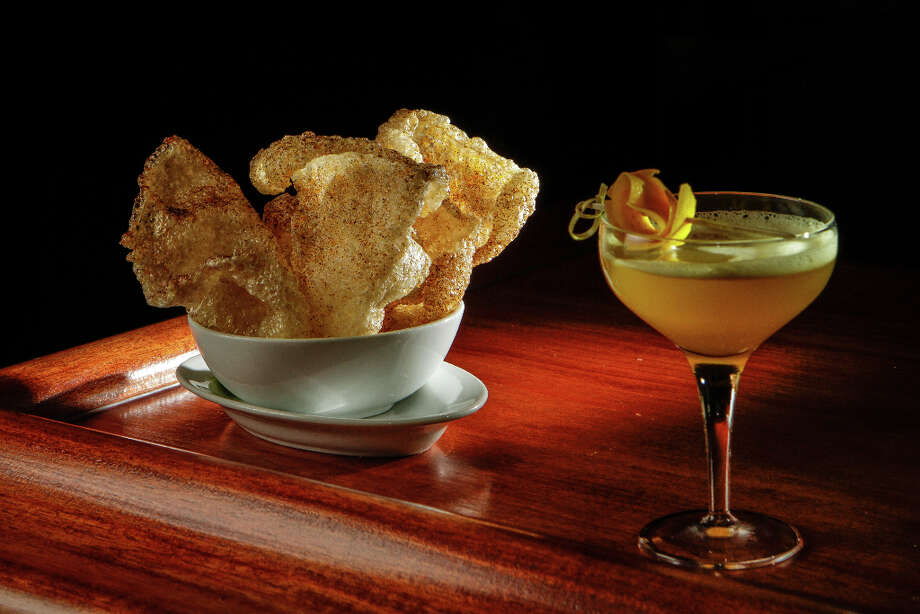 Chicharrones with the Dial D for Derby cocktail at Fauna. Photo: John Storey, Special To The Chronicle / John Storey
