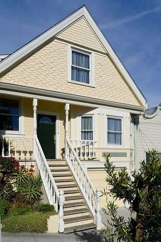 The two-story Victorian at 4264 22nd St. in Noe Valley includes two bedrooms and two bathrooms. It's on the market for $1.295 million. Photo: Steph Dewey