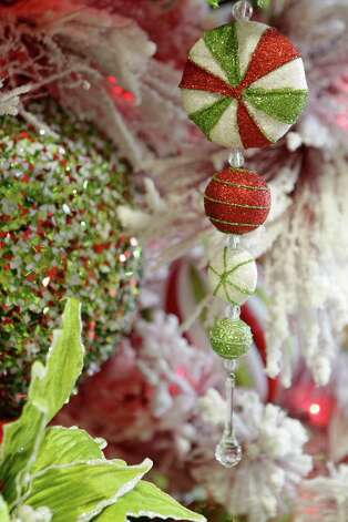 Peppermint ornaments look almost good enough to eat. Photo: Melissa Phillip, Staff / © 2012 Houston Chronicle