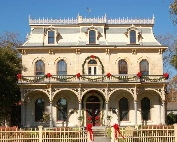 Halls are decked in traditional German fashion at the Steves Homestead in King William. Photo: Courtesy San Antonio Conservation Society