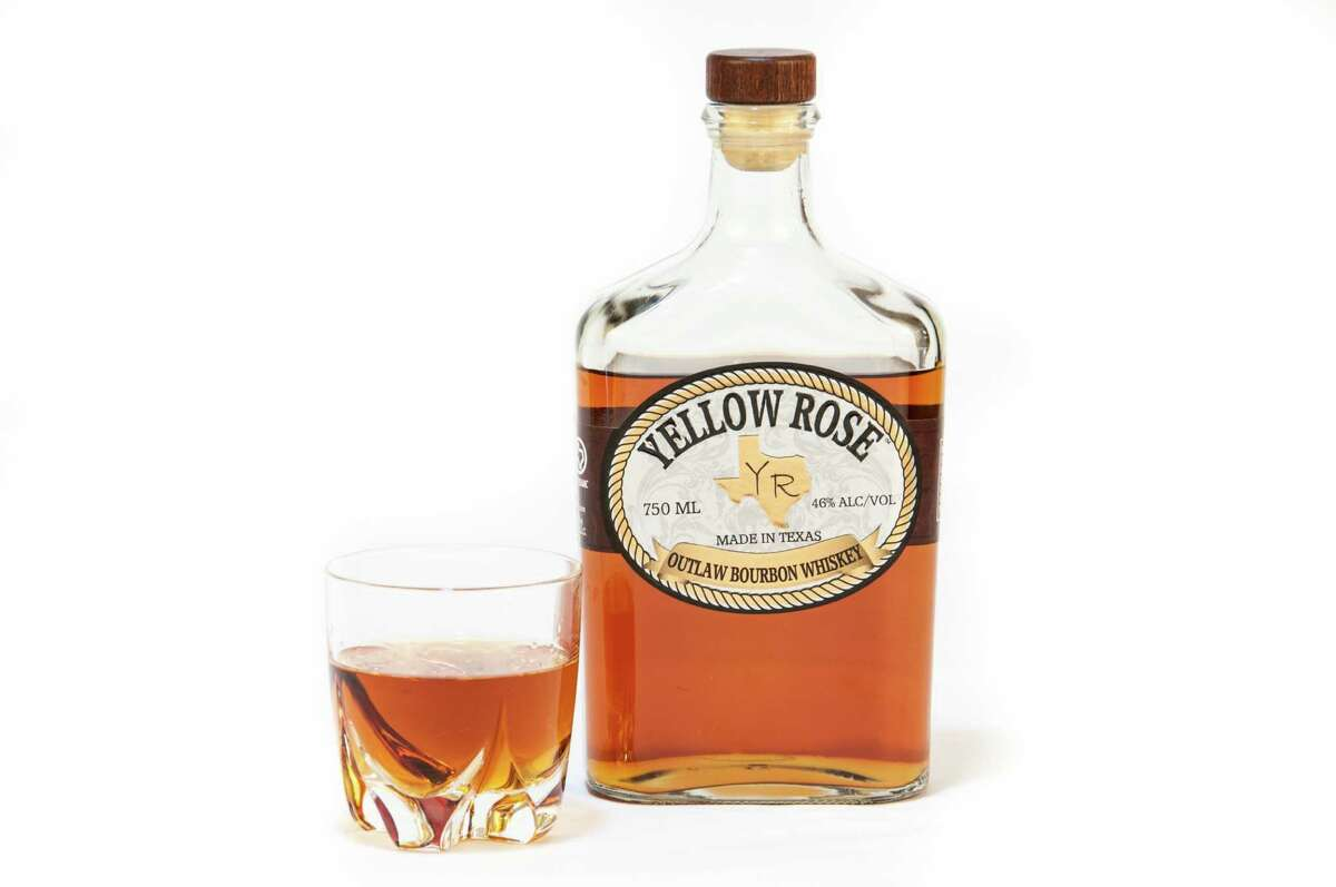Yellow Rose Outlaw Bourbon Whiskey was launched locally July 2012. It comes from Yellow Rose Distilling, Houston's first whiskey distillery.