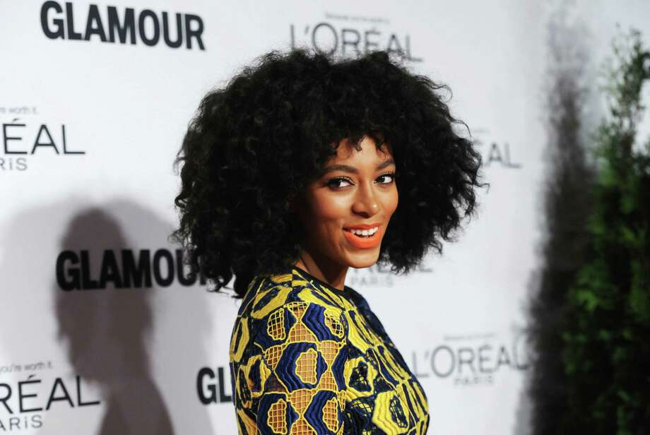 """Singer Solange Knowles attends Glamour Magazine's 22nd annual """"Women of the Year Awards"""" at Carnegie Hall on Monday Nov. 12, 2012 in New York. (Photo by Evan Agostini/Invision/AP) Photo: Evan Agostini, INVL / Invision"""