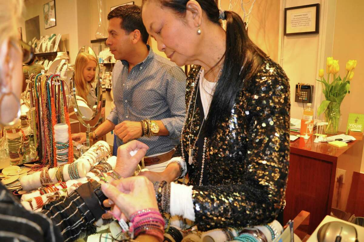 Jewelry designer Chan Luu visits Jay Landa's J. Silver boutique in the village in Houston, showing her wrap bracelets and bohemian jewelry.