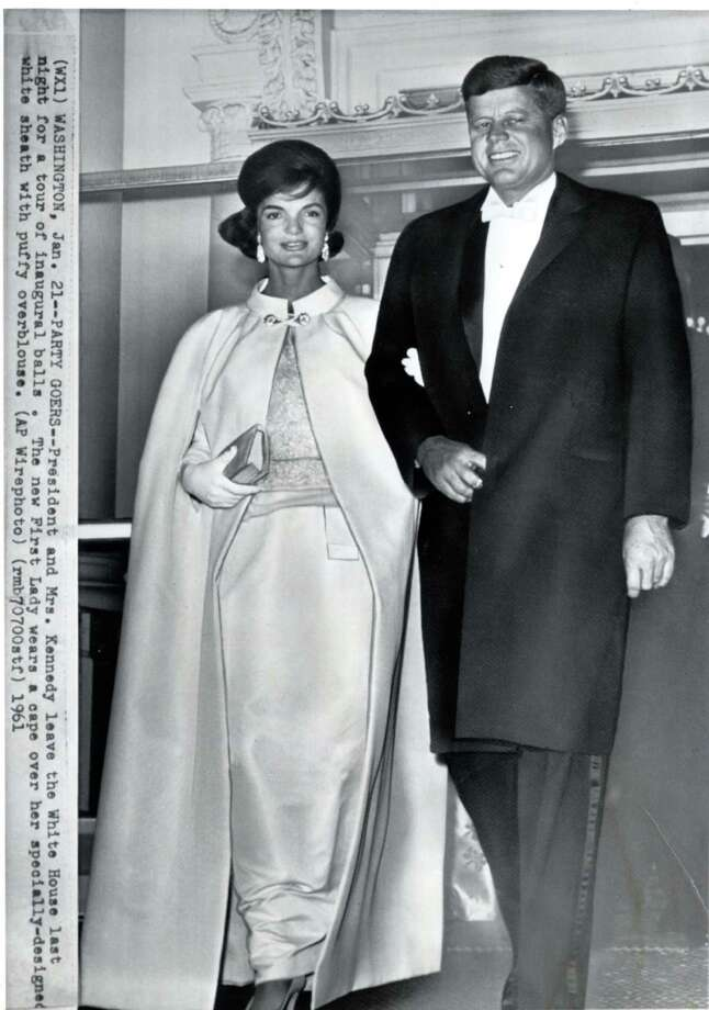Favored by JFK, above with wife Jackie in 1961, Eight & Bob cologne has been re-released. Photo: Staff / AP Wirephoto