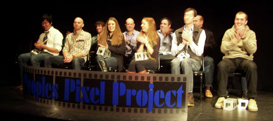 Winners of the 2012 Lake George Arts Peoples Pixel Project on stage at the Wood Theater in April. (http://www.lakegeorgearts.org)