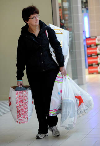 Mary DeFazio, of The Bronx, N.Y., arrived at the Danbury Fair mall at 5:30 a.m. to shop Black Friday, Nov. 23, 2012. Photo: Carol Kaliff / The News-Times