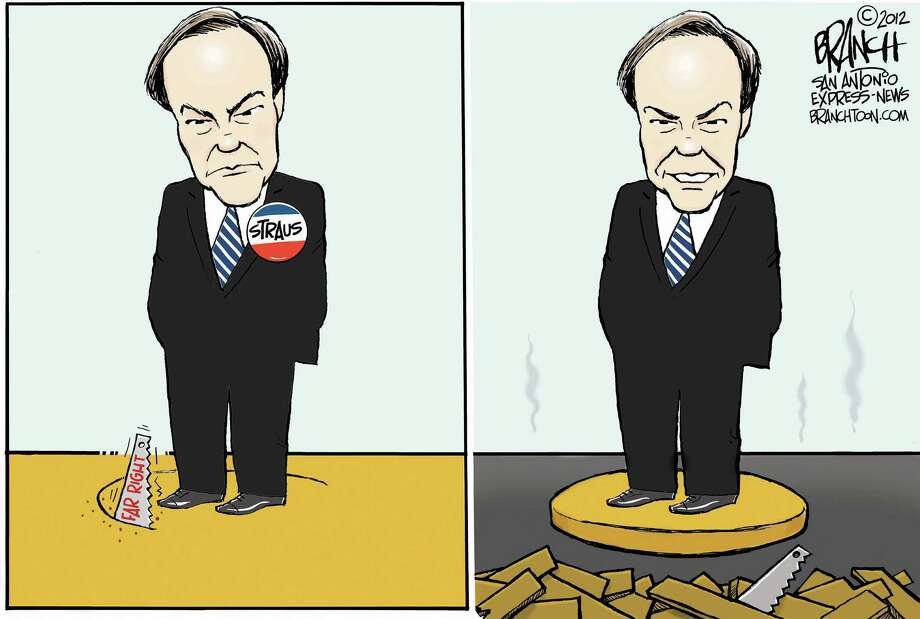 Cartoonist John Branch takes a look at Texas House Speaker Joe Straus and the far right.