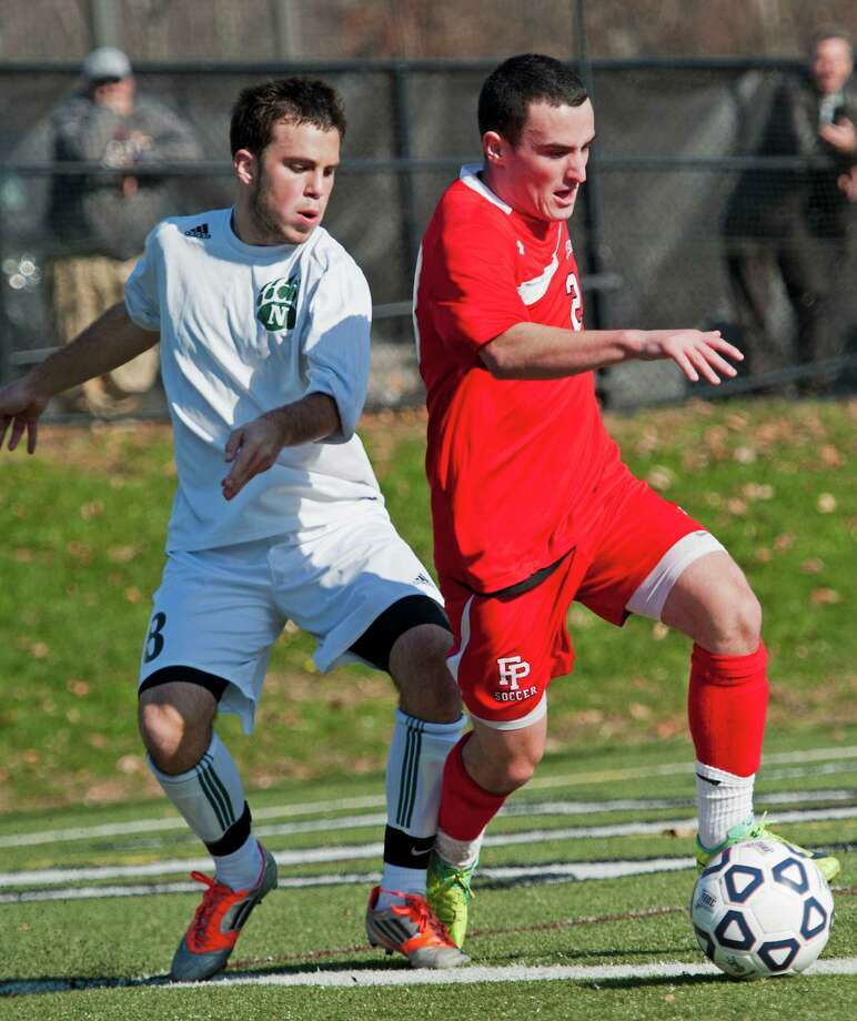 Norwalk high school vs. Fairfield Prep high school in the CIAC class LL boys soccer championship game held at New Canaan high school, New Canaan, CT on Friday November 23rd, 2012 Photo: Mark Conrad / Connecticut Post Freelance