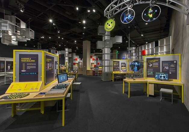 The Texas Instruments Engineering and Innovation Hall in the new Perot Museum of Nature and Science in Dallas includes interactive exhibits on robot design, 3D animation and digital electronics. Photo: Mark Knight Photography